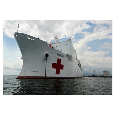 Military Sealift Command hospital ship USNS Comfor Canvas Art