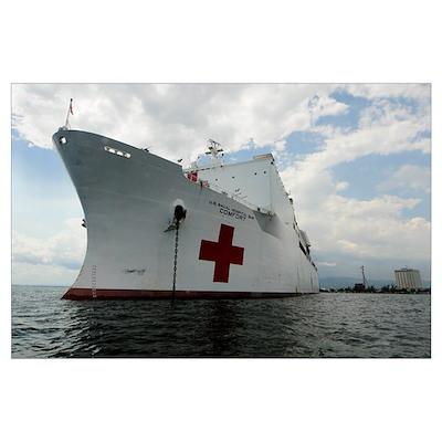 Military Sealift Command hospital ship USNS Comfor Poster