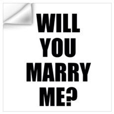 will you marry me? Wall Art Wall Decal