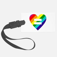 Rainbow love equals love Luggage Tag