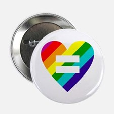"Rainbow love equals love 2.25"" Button (100 pack)"