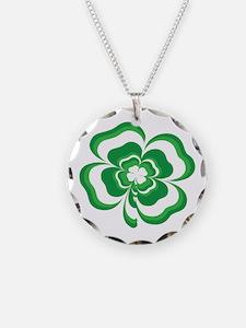 Stacked Shamrock Necklace