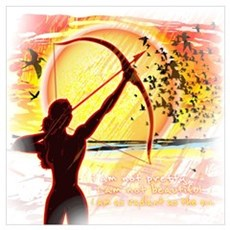 Katniss Radiant as the Sun Wall Art Framed Print
