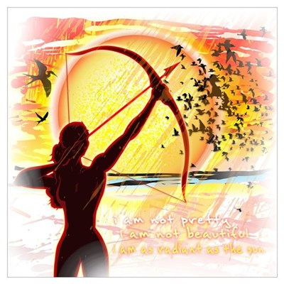 Katniss Radiant as the Sun Wall Art Poster
