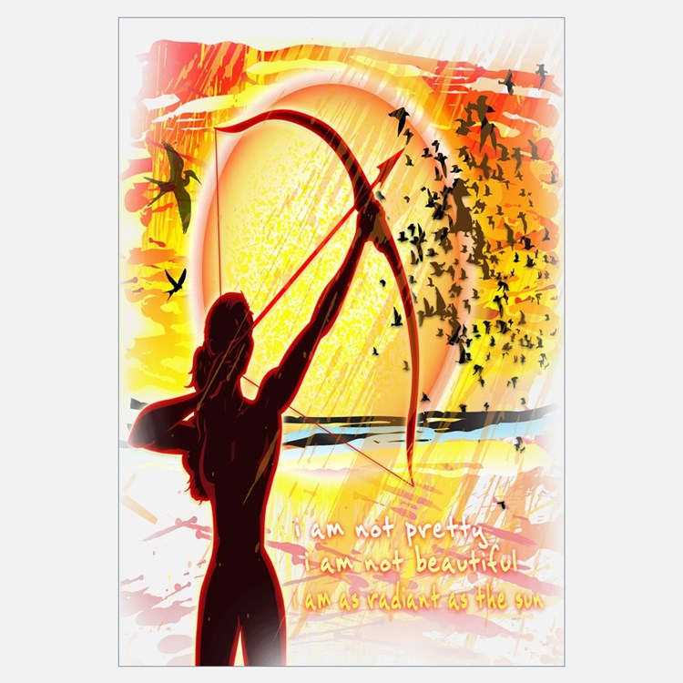 Katniss Radiant as the Sun Wall Art