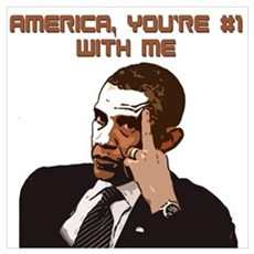 America #1 With Obama Wall Art Poster