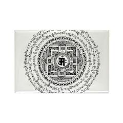 Mantra Mandala Rectangle Magnet