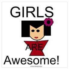 Girls are Awesome! Wall Art Framed Print