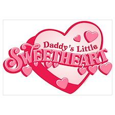 Daddy's Sweetheart Wall Art