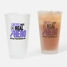 Never Knew a Hero Esophageal Cancer Drinking Glass