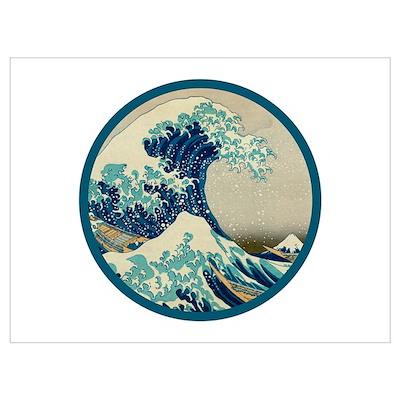 Kanagawa great wave Wall Art Poster