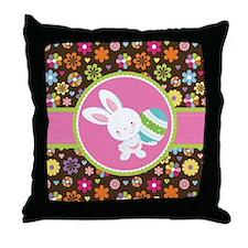 Easter Bunny Gift Rabbit Throw Pillow