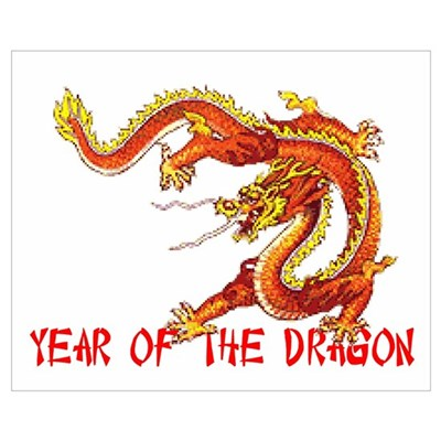 Year of the Dragon Wall Art Poster