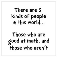 Math People Wall Art Poster