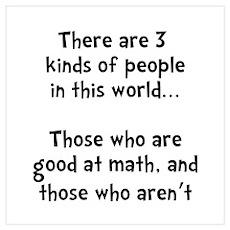 Math People Wall Art Poster