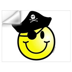 Smiley Pirate Wall Art Wall Decal