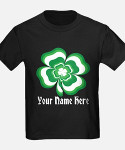 Customizable Stacked Shamrock T
