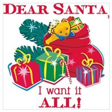 Want It All Santa Wall Art Framed Print