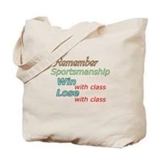 Sportsmanship w/print on back Tote Bag