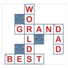 Crossword Grandpa Wall Art Poster