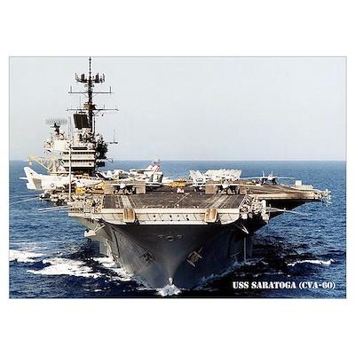 USS SARATOGA Wall Art Poster