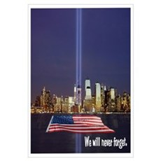 9-11 We Will Never Forget Wall Art Canvas Art