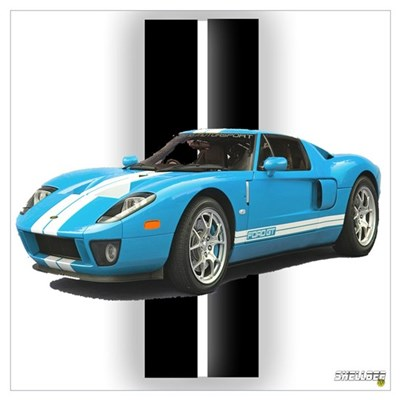 New Racing Car Wall Art Poster