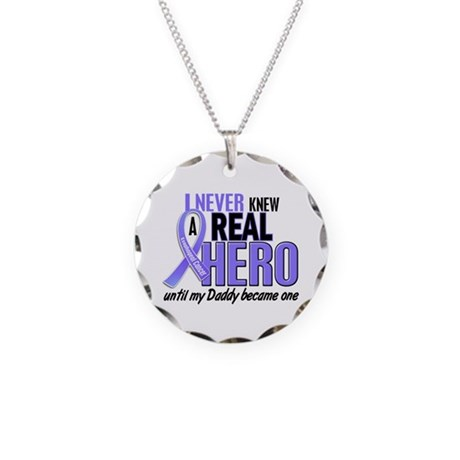 Never Knew a Hero Esophageal Cancer Necklace Circl