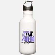 Never Knew a Hero Esophageal Cancer Water Bottle