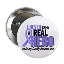 """Never Knew a Hero Esophageal Cancer 2.25"""" Button"""