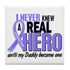 Never Knew a Hero Esophageal Cancer Tile Coaster
