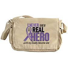 Never Knew a Hero Esophageal Cancer Messenger Bag