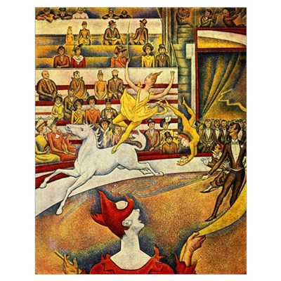 Circus by Seurat Wall Art Poster