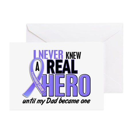 Never Knew a Hero Esophageal Cancer Greeting Cards