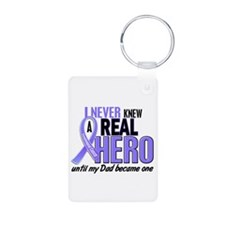 Never Knew a Hero Esophageal Cancer Keychains
