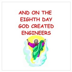 engineers Wall Art Poster