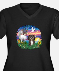 MagicalNight-ShihTzu #6 Women's Plus Size V-Neck D