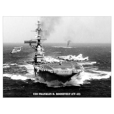 USS FRANKLIN D. ROOSEVELT Wall Art Poster