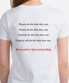Sportsmanship (Text on front & back) Women's T-Shi