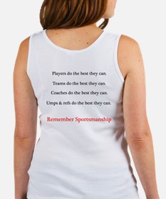 Sportsmanship (Text on front & back) Women's Tank