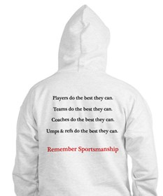 Sportsmanship (Text on front & back) Hoodie