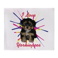 Cute Yorkies Throw Blanket