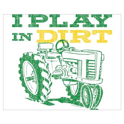 Play In Dirt Tractor Wall Art Canvas Art