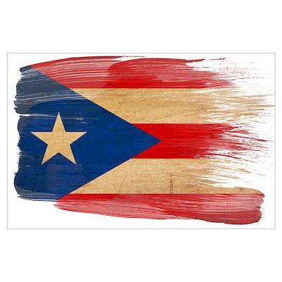 Puerto Rico Flag Wall Art Poster