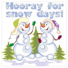 Funny Winter Snow Humor Wall Art Poster