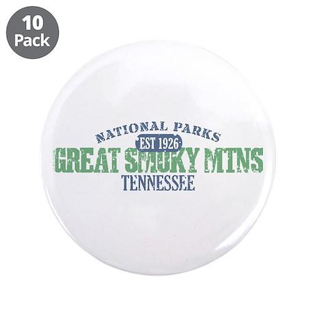 "Great Smoky Mountains Nat Par 3.5"" Button (10 pack"