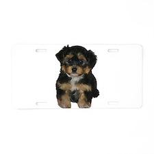 Cute Puppy Aluminum License Plate