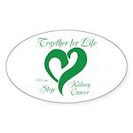 Stop Kidney Cancer Sticker (Oval 50 pk)