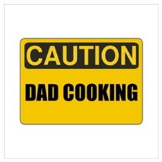 Dad Cooking Wall Art Poster