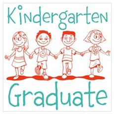 Kindergarten Graduate Wall Art Poster
